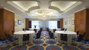 hongqiao jin jiang hotel meeting room half round table setup