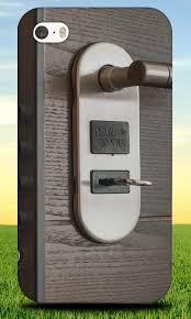 door handle key keyhole hard back case for