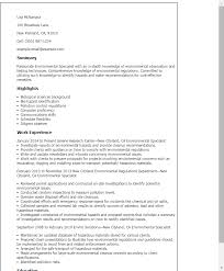 Resume Templates: Environmental Specialist