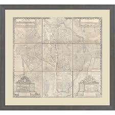 32 map of paris wall art paris map wall decor intended for map of