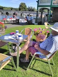 riverside tea garden watch the world go by