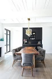 live edge dining table with rectangular chandelier meurice jonathan adler 42 light