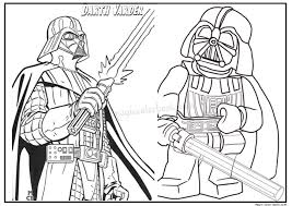 Small Picture Darth Vader star wars coloring page