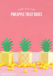 gift box template diy pineapple treat boxes consumer crafts gift box template pineapple treat boxes consumer crafts