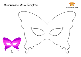Print coloring pages online or download for free. Free Printable Masquerade Masks Template 123 Kids Fun Apps