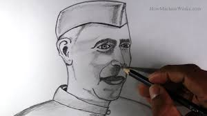 how to draw jawaharlal nehru childrens day special