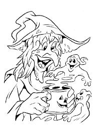Heksen Spookje Uit De Beker Heksen Kleurplaten Kleurplaatcom