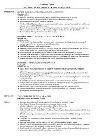 Business Resume Examples Best Of Business Analyst Systems Analyst Resume Samples Velvet Jobs