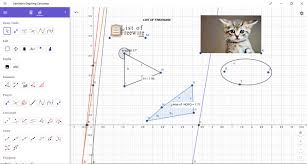 geogebra graphing calculator is a free windows 10 equation grapher app that can plot the graph of multiple equations on the same xy plane