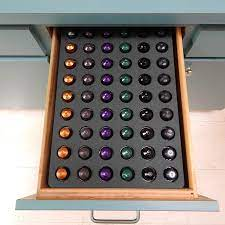 Can be trimmed to exact size with table saw, all features: Amazon Com Polar Whale Espresso Capsule Storage Organizer Tray Drawer Insert For Kitchen Home Office Waterproof 12 6 X 17 9 Inches Holds 54 Compatible With Nespresso Original Originalline Office Products