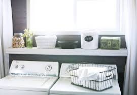 astonishing laundry room shelving using white floating board over window features white curtains