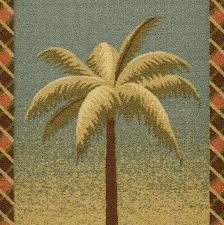 ottomanson sara s kitchen tropical palm tree design bath rug runner rug with non skid 20 x 59 multicolored ottomanson