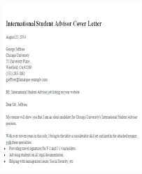 Cover Letter Example For Students Sample Academic Advisor Cover