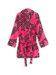 Victoria Secret Sweater Size Chart Victorias Secret Pink Cozy Robe Pink Font Print