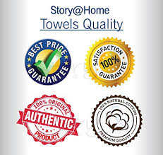 Story Home 6 Pieces 450 Gsm Cotton Towel Set For Couples Navy And Lime
