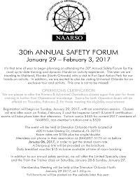 2017 MARKS START OF SAFETY SEMINARS