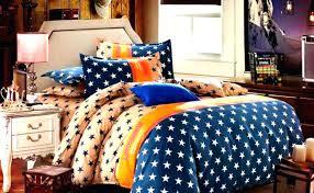 cream blue star white orange bedding set duvet cover and uk