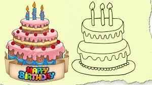 Drawing Birthday Cake Anniversary Video Cupcake Images Blank Carmi