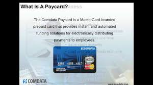 data mastercard paycard overview