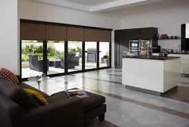 awesome sliding glass door window with large wooden sliding panel blinds