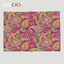 Fancy Patterns Enchanting Custom Soft Fleece Throw Blanket Paisley Decor Fancy Authentic
