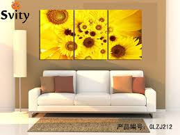 modern abstract yellow and pink sunflower wall art picture print on canvas modular wall picture decor on sunflower wall art canvas with modern abstract yellow and pink sunflower wall art picture print on
