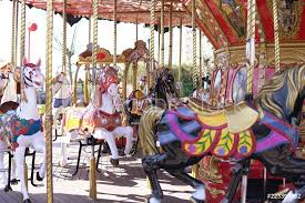 photo art print kid attractions colorful carousel horse fun x abposters com