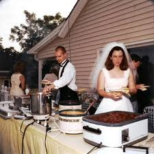 beautiful simple wedding reception food