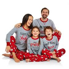 Departments Holiday Family Pajamas Santa\u0027s List Sleep Pant and Top 2 Piece