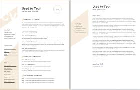 Resume Modern Format Modern Resume Template In Word Free Used To Tech