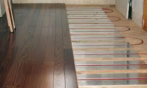 installation of in floor heating