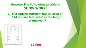 144 Square Feet Estimating Irrational Numbers If We Know Our Perfect Squares And