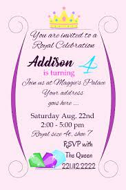 Birthday Invitation Party Royal Birthday Girl Party Invite Template Postermywall