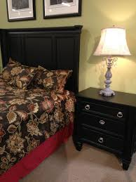 Greensburg Panel Bedroom Set The Rich Black Paint Finish Beautifully  Embracing The Warm Cottage Design Of