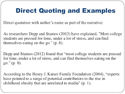 Citing A Quote Apa