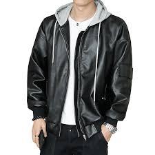 2019 leather jacket male motorcycle jacket polar fleece hood detachable pu faux leather men pj750 from xaviere 105 99 dhgate com