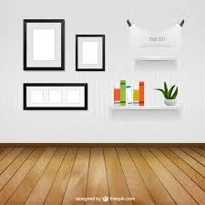 office wall frames. Interior Room With Wall Frames And Shelves Free Vector Office F