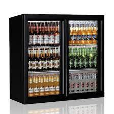 undercounter refrigerator with 2 hinged