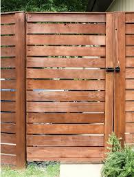 horizontal wood fence diy. DIY Fence Gate - Horizontal Wood Slat Diy