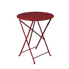 Table de jardin FERMOB Bistro ronde piment 2 personnes | Leroy Merlin