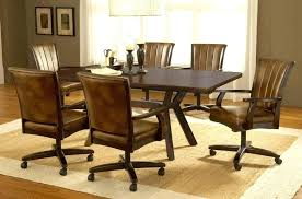 3 rolling dining room chairs dining chair with casters remarkable oak dining chairs with casters dining