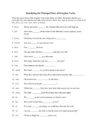 Irregular Verbs Worksheet 4th Grade Worksheets Best Ideas Of Free