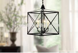 candle pendant lighting. Abstract Art Iron Cage Pendant Light Matte Black Color E14 Base Candle Lighting