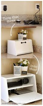 Turn an old yardsale breadbox into a charging station to hide all your cell  phone and