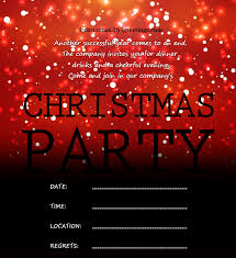 Company Christmas Party Invite Template Christmas Invitation Template And Wording Ideas Christmas