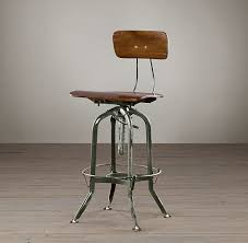photo of restoration hardware bar stool vintage toledo bar chair antiqued green bar stools