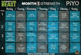 calendar piyobodybeast pdf on month 2 piyo body beast hybrid workout