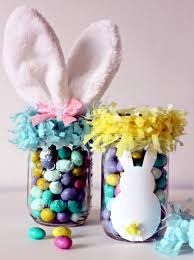Decorating Jelly Jars Crafts for Easter jam jars can replace Easter baskets Interior 76