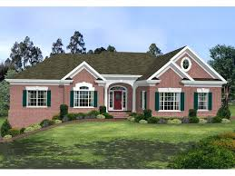 brick home plans park brick ranch home brick house plans with wrap around porches