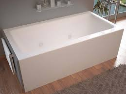 venzi madre 32 x 60 front skirted whirlpool tub with right drain by atlantis